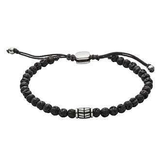 Fossil Wellness Men's Black Bracelet - Product number 9040951