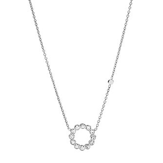 Fossil Vintglitz Sterling Silver Hoop Necklace - Product number 9040986