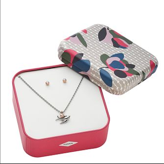Fossil Ladies' Bird Earrings and Pendant Gift Set - Product number 9041001