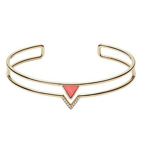 Fossil Ladies' Yellow Gold Tone Fashion Coral Bangle - Product number 9041060