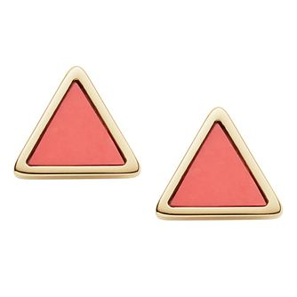 Fossil Ladies Yellow Gold Tone Stud Earrings - Product number 9041079