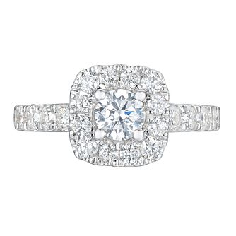 Tolkowsky Platinum 1.50ct Cushion Diamond Halo Ring - Product number 9045937