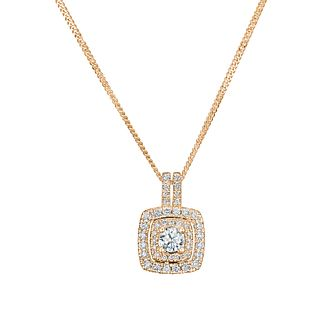 Tolkowsky 18ct Rose Gold 0.50ct Halo Diamond Pendant - Product number 9046410