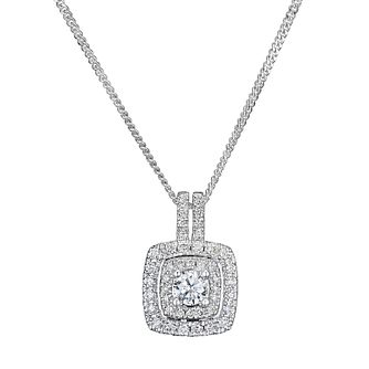 Tolkowsky Platinum 0.50ct Halo Diamond Pendant - Product number 9046429