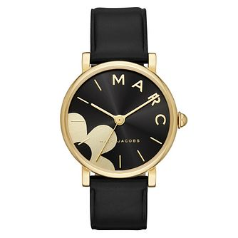 Marc Jacobs Daisy Ladies' Yellow Gold Tone Black Watch - Product number 9047379