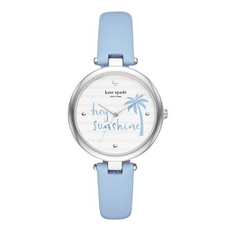 Kate Spade Varick Ladies' Blue Palm Tree Dial Strap Watch - Product number 9047417