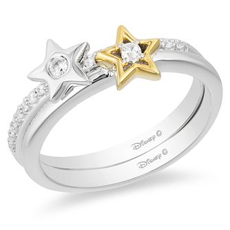 Enchanted Disney Fine Jewelry Diamond Tinker Bell Ring Set - Product number 9048154
