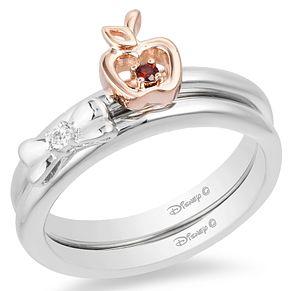 Enchanted Disney Fine Jewelry Diamond Snow White Ring Set H Samuel