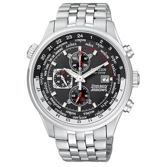 Citizen Eco-Drive Red Arrow WR100 Men's Bracelet Watch - Product number 9052356