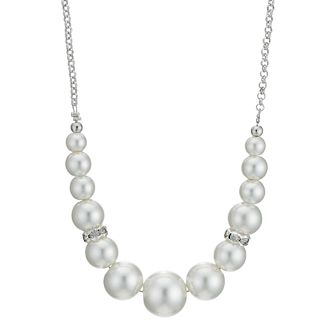 Pearl Effect & Crystal Necklace - Product number 9058591