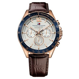 Tommy Hilfiger Men's Brown Leather Strap Watch - Product number 9067787