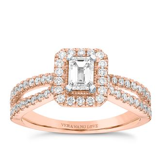Vera Wang 18ct Rose Gold 0.95ct Diamond Ring - Product number 9078568