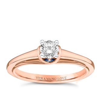Vera Wang 18ct Rose Gold 0.30ct Diamond Solitaire Ring - Product number 9091238