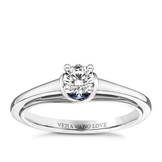 Vera Wang Platinum 0.30ct Diamond Solitaire Ring - Product number 9091351