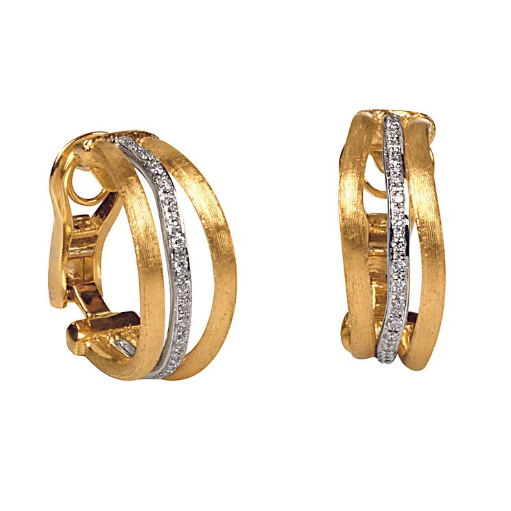 Marco Bicego 18ct yellow gold diamond earrings - Product number 9096140