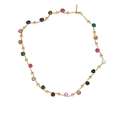 Marco Bicego 18ct yellow gold multi stone necklace - Product number 9096191