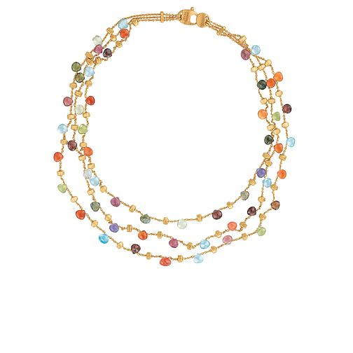 Marco Bicego 18ct yellow gold multi stone necklace - Product number 9096213