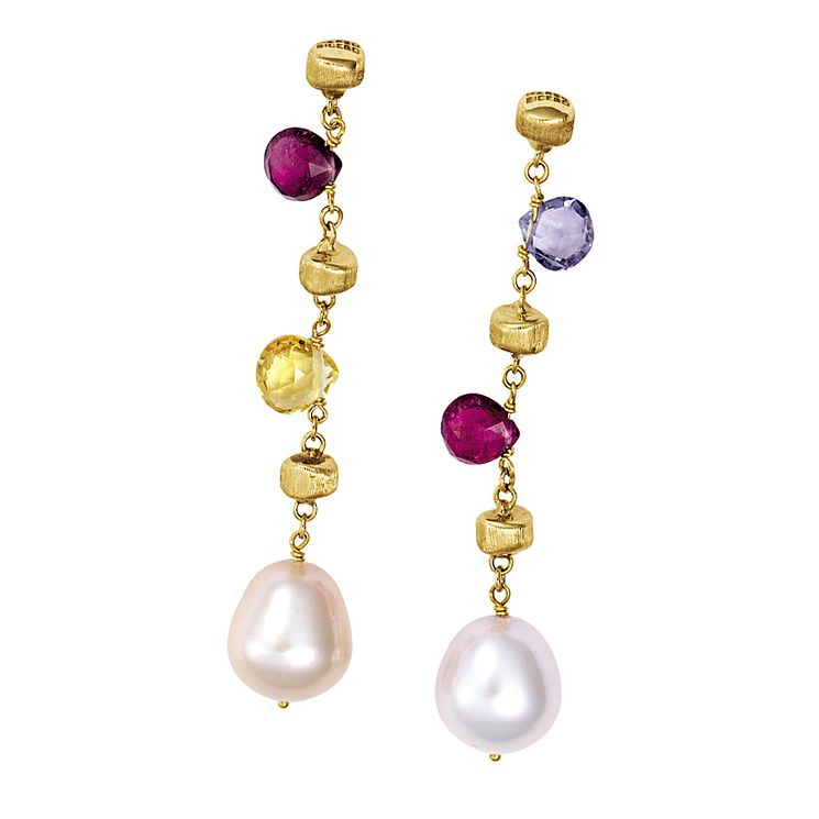 Marco Bicego  Paradise 18ct yellow gold drop earrings - Product number 9096353