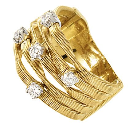 Marco Bicego  Marrakech 18ct yellow gold diamond stud ring - Product number 9099182