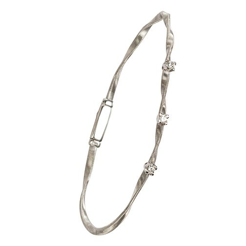 Marco Bicego 18ct white gold diamond bangle - Product number 9099476