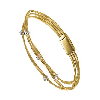 Marco Bicego Marrakech 18ct yellow gold diamond bracelet - Product number 9099492