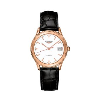 Longines Flagship Men's 18ct Rose Gold Strap Watch - Product number 9100105