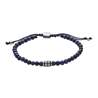 Fossil Men's Semi-Precious Blue Wellness Bead Bracelet - Product number 9103570