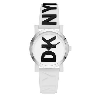 DKNY Ladies' White Silicone Strap Watch - Product number 9103724