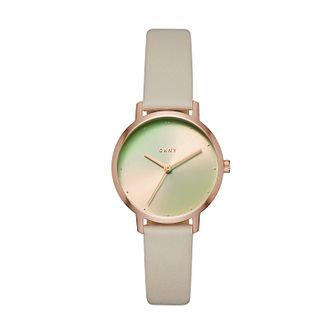 DKNY Ladies' Grey Leather Strap Watch - Product number 9103759