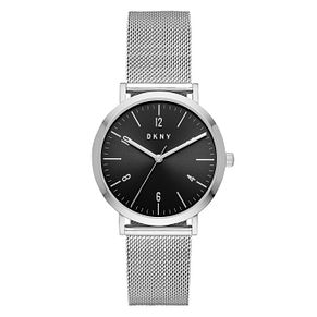 DKNY Ladies' Silver Plated Mesh Strap Watch - Product number 9103988