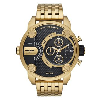 Diesel Little Daddy Men's Gold Tone Bracelet Watch - Product number 9104313