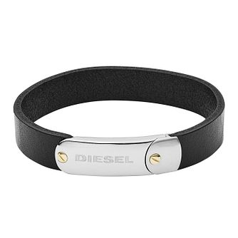 Diesel Men's Black Leather Bracelet - Product number 9105190