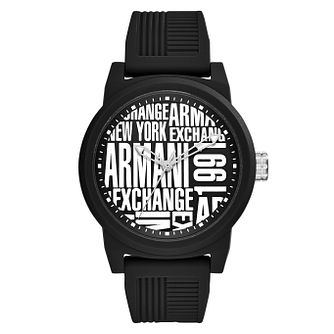 Armani Exchange Men's Black Silicone Strap Watch - Product number 9105646
