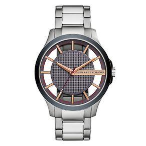 Armani Exchange Men's Silver Two-Tone Bracelet Watch - Product number 9105689