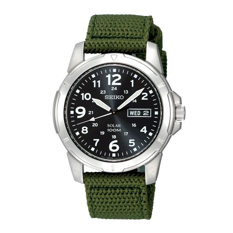 Seiko Men's Green Nylon Strap Watch - Product number 9127968