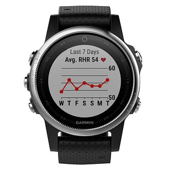 Garmin Fenix 5S Black Silicone Strap Smartwatch - Product number 9176020