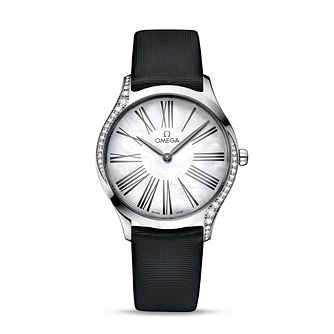 Omega De Ville Tresor Ladies' Diamond Black Strap Watch - Product number 9176756