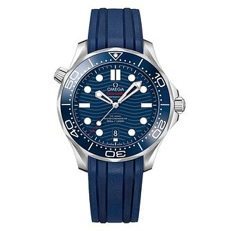 Omega Seamaster Diver Men's Blue Strap Watch - Product number 9178104