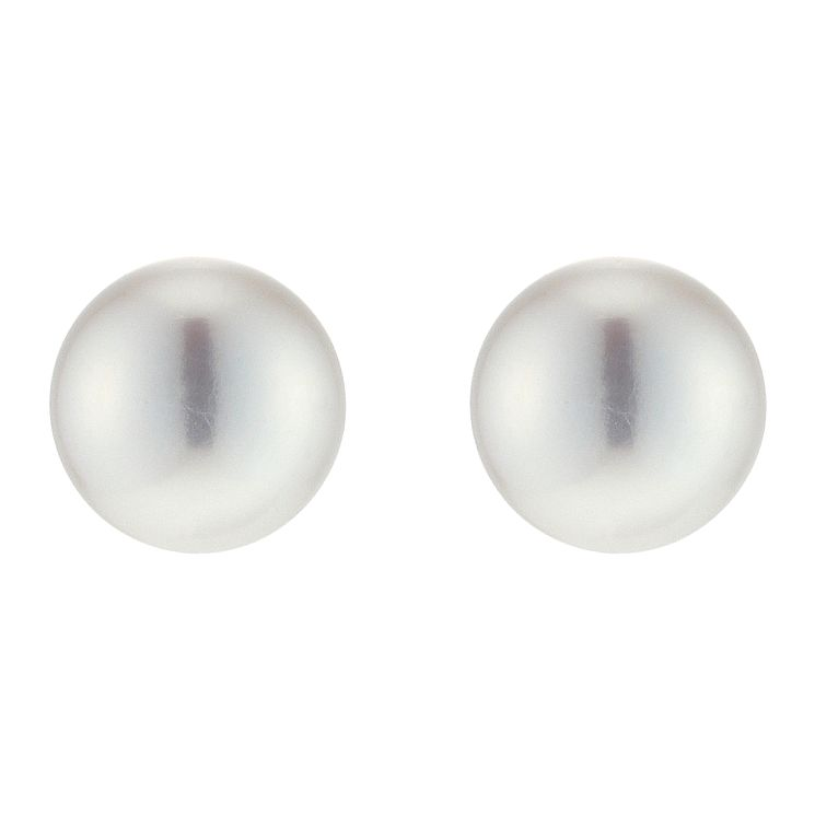 9ct Yellow Gold 8mm Cultured Freshwater Pearl Studs - Product number 9187987
