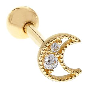 Bodifine 9ct Gold Cubic Zirconia Moon Tragus Single Stud - Product number 9192158
