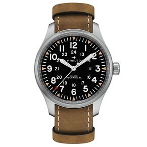 Hamilton Khaki Field Men's Brown Strap Watch - Product number 9192271