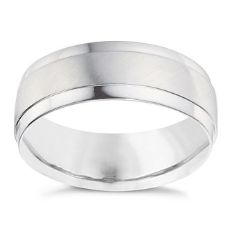 Men's Palladium 950 Matt & Polished 7mm Wedding Band - Product number 9200592