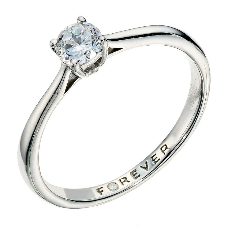Palladium 1/3 Carat Forever Diamond Ring - Product number 9222715