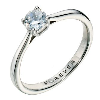 Palladium 1/2 Carat Forever Diamond Ring - Product number 9224432