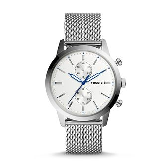 Fossil Townsman Men's White Dial Bracelet Watch - Product number 9227067