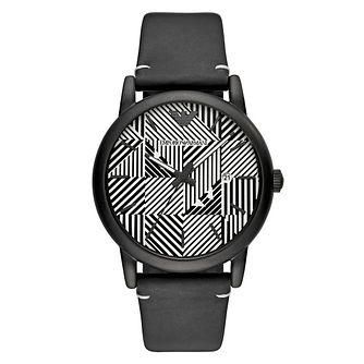 Emporio Armani Men's Black and White Patterned Dial Watch - Product number 9227156
