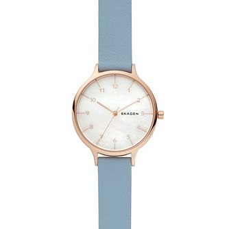 Skagen Anita Ladies' Rose Gold Tone Strap Watch - Product number 9227180