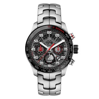 TAG Heuer Senna Carrera Men's Stainless Steel Bracelet Watch - Product number 9231730