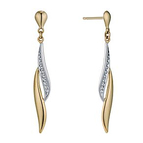 9ct Yellow Gold Flame Drop Earrings - Product number 9242309
