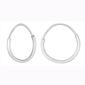 9ct White Gold Small Sleeper Earrings - Product number 9242694